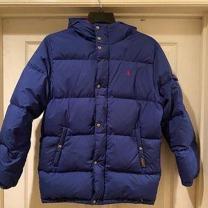 Boys Polo Blue Puffer Coat Kids 2x